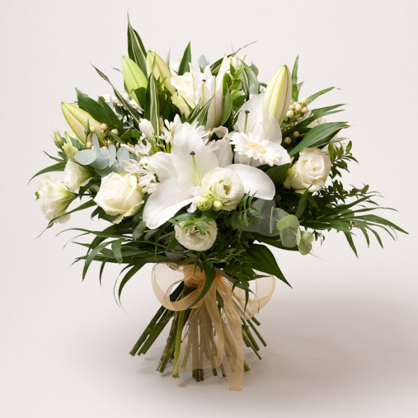 luxury white lily flower bq