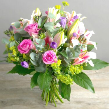 LADIES DAY LILY ROSE & FREESIA FRAGRANT BOUQUET