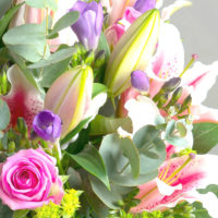LADIES DAY LUXURY LILY ROSE & FREESIA FRAGRANT BOUQUET