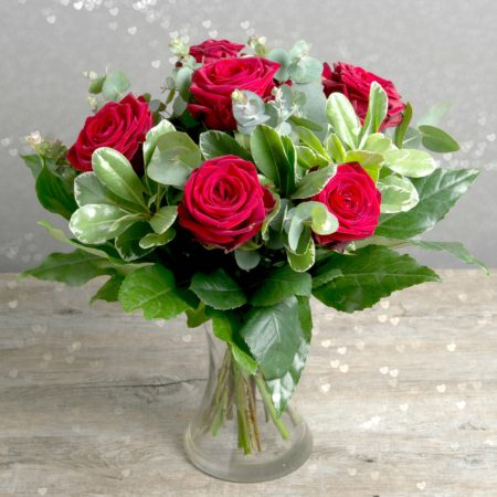 SWEETHEART RED ROSE VALENTINE BOUQUET