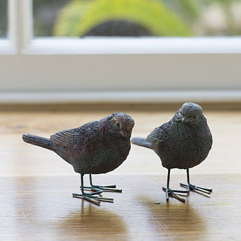 bird ornaments crafted metal gift box