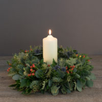 Highland Door Wreath
