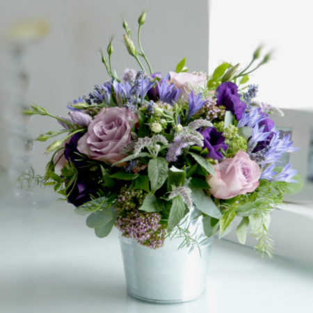lilac bloom bucket