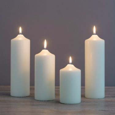 CHAPEL CANDLES VARIOUS SIZES