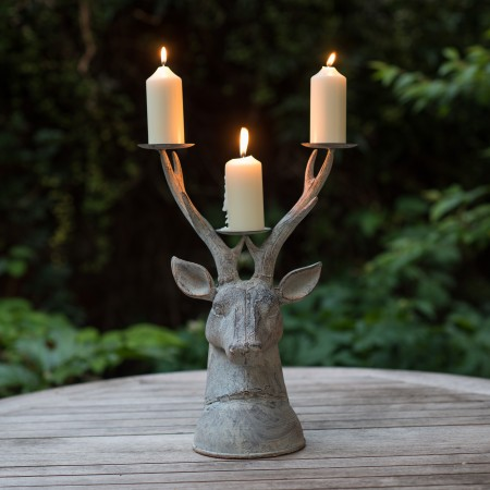 Garden Stag Candle Holder