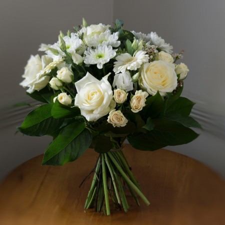 _Essential Collection - Elegant White Bloom Bouquet