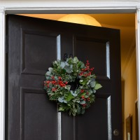 Woodland Fresh Foliage And Berry Door Wreath