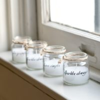 SET OF FOUR CANDLE QUOTE JARS