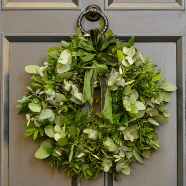 FRAGRANT FOLIAGE DOOR WREATH