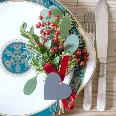 HEART TABLE SETTING