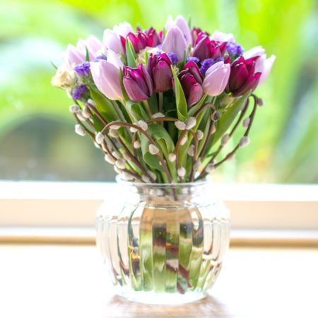 spring-pink-tulips-pussy-willow-flower-posy