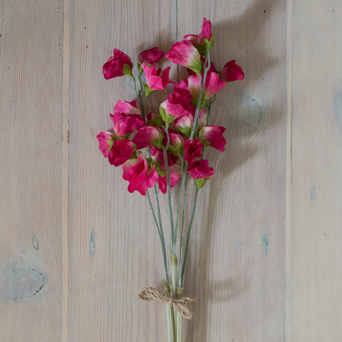 Faux Stem Fuchsia Pink Sweet Pea Bunch Of 3 Flower Studio Shop