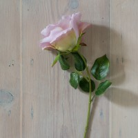 SILK VINTAGE GARDEN ROSE STEM