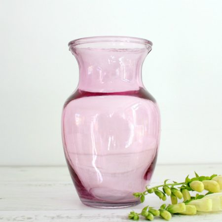 ESSENTIAL Hand Tie Pink Glass Vase