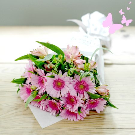 PINK GERBERA & Alstroemeria CUT FLOWER BUNCH