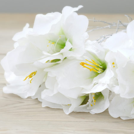 ARTIFICIAL WHITE AMARYLLIS BUNCH
