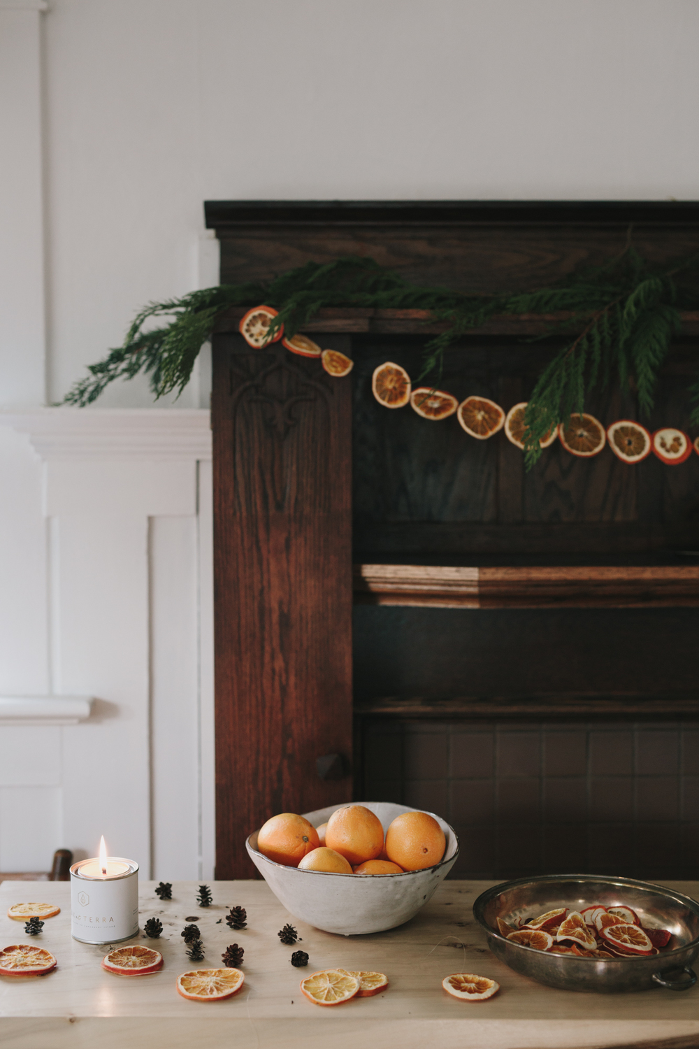 handmade orange garland