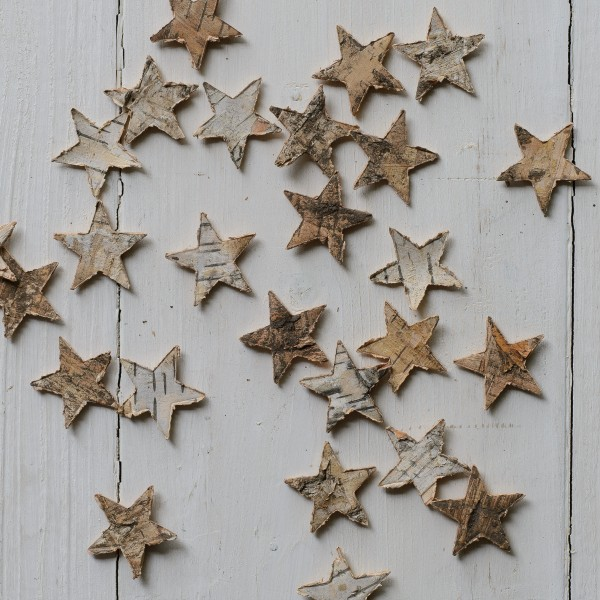 little birch wooden stars