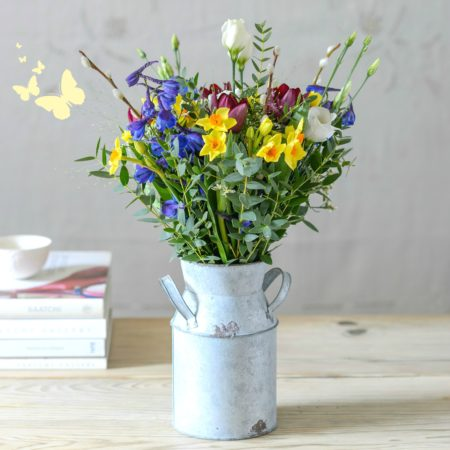 BUNDLE OF SPRING FLOWERS IN CHURN