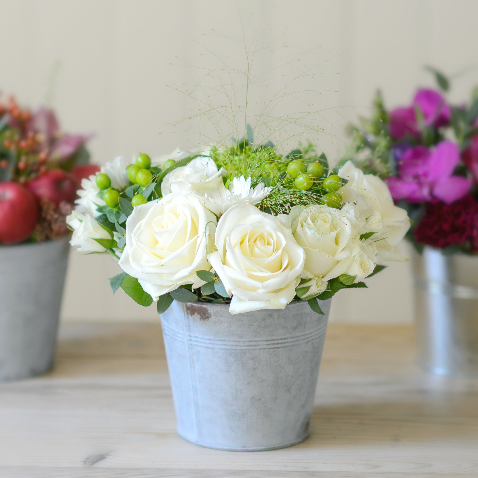 Subscription Flowers Three Month Bloom Bucket Gift