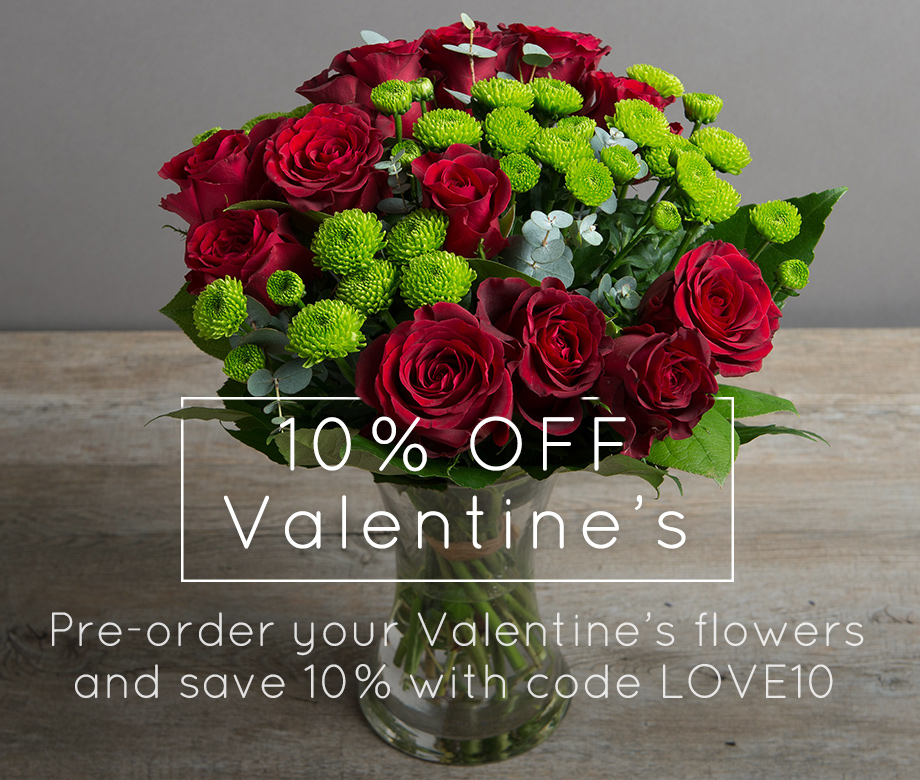 10% OFF Valentine's Flowers from the Flower Studio