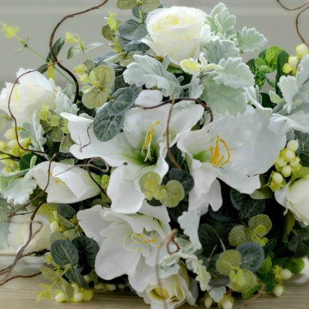 ARTIFICIAL LUXURY WHITE ROSE & LILY BRIDE BQ