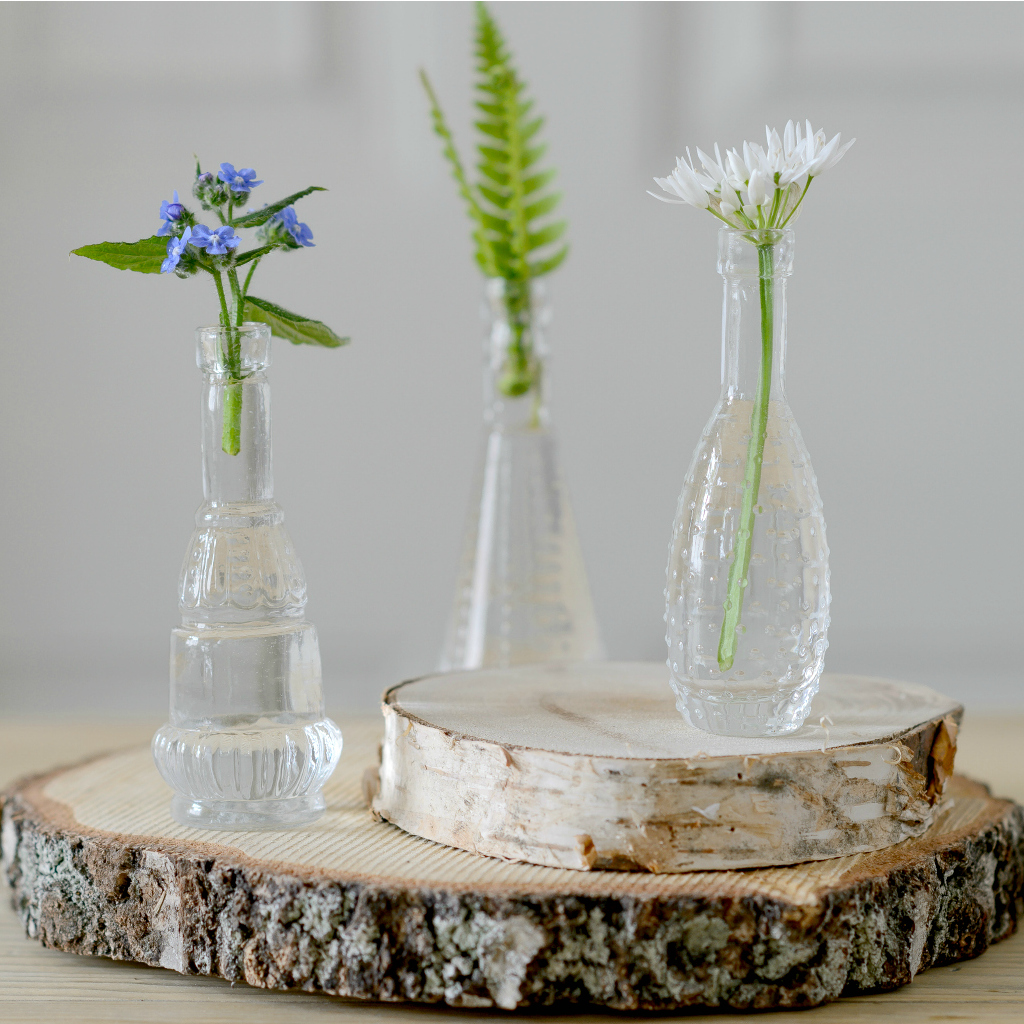 Table Large Rustic Wooden Slice Centrepiece Flower