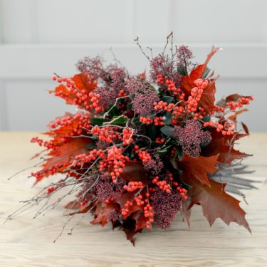 AUTUMN LEAVES AND BERRY BOUQUET
