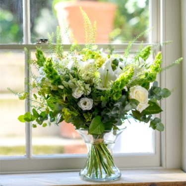 LUXURY WHITE LILY GARDEN BOUQUET