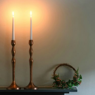 Oskar COPPER CANDLESTICK FOR DINNER CANDLE