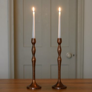 copper candlestick
