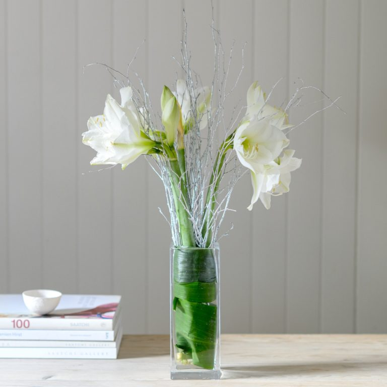 WHITE-AMARYLLIS-FLOWERS-WITH-GLITTER-TWIGS-768x768