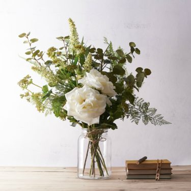 WILLOW ROSE GARDEN FAUX BOUQUET