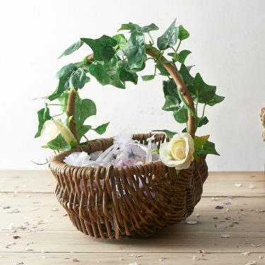 WOODLAND WILLOW FLOWER GIRL BASKET