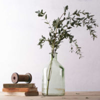 BOTANICAL BOTTLE VASE GREEN