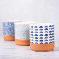 HAND PAINTED PATTERN POTS