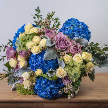 BLUE SKY WHITE CLOUDS BOUQUET