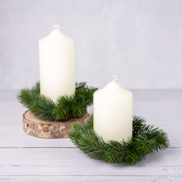 FAUX WOODLAND CANDLE RING