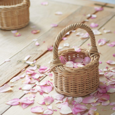 FLOWER GIRL POSY BASKET