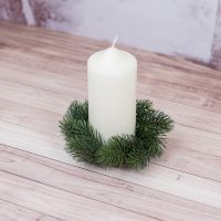 faux christmas tree woodland candle ring crown