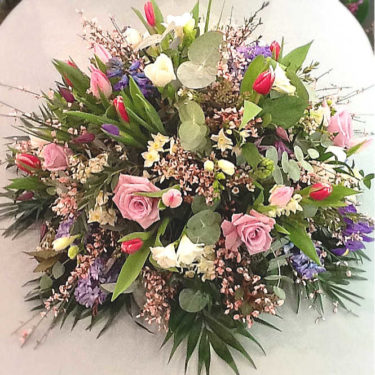 country garden mixed flower posy