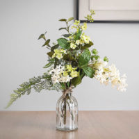faux woodland walk flower bottle posy