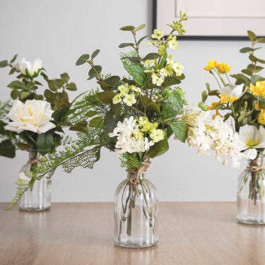 set of 3 posy bottle arrangements