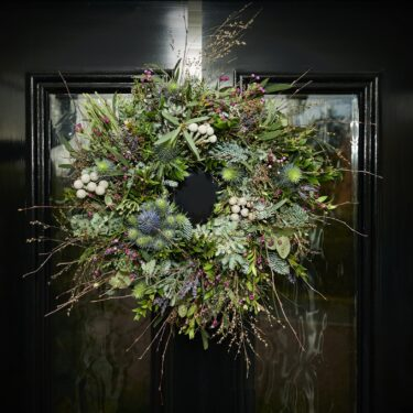 wild foliage flower door wreath