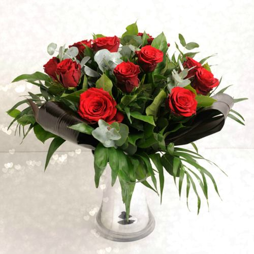 Love ~ Decadent Dozen Red Roses