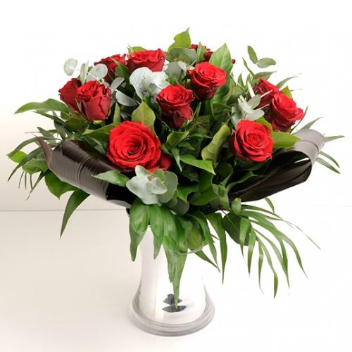 Love ~ Luxury 12 Red Rose Bouquet