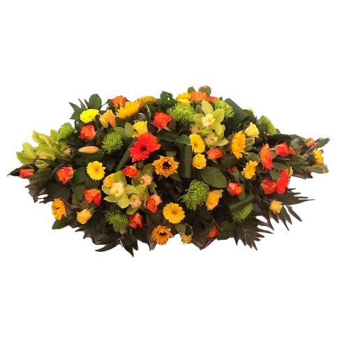 Casket Spray ~ Sunflower Garden Spray ~ Local Delivery Only