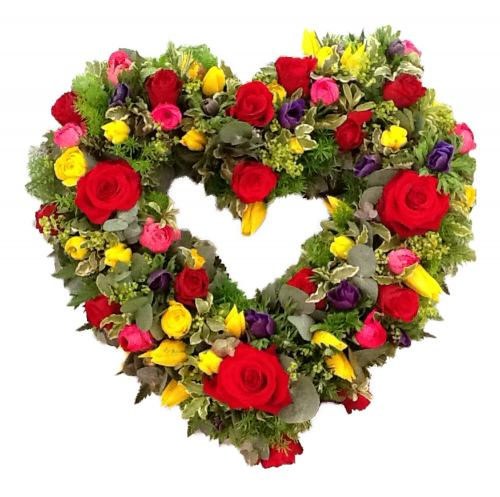 Heart Wreath ~ Gardener's Love Heart ~ Local Delivery Only