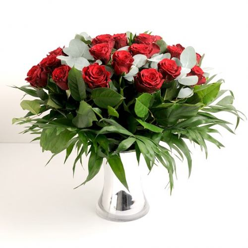 Love ~ Luxury 24  Red Rose Bouquet
