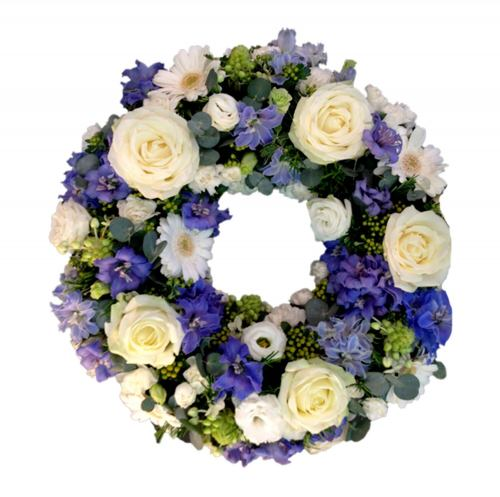 Wreath ~ Classic Blue Wreath Local Delivery Only